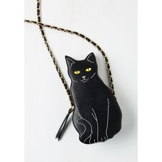 Quirky Cat to the Chase Bag (27.405 CLP) ❤ liked on Polyvore featuring bags, handbags, shoulder bags, black, cats, necklaces, purses, accessories, cross-body bag and fashion crossbody