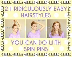 spin pin hairstyles - 21 Ridiculously Easy Hairstyles You Can Do With Spin Pins Spin Pin, Pretty Hairstyles, Easy Hairstyles, African Hairstyles, Good Hair Day, Hair Today, Hair Dos, Hair Hacks, Hair Inspiration