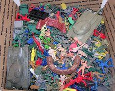 Military Plastic Army Men, Cowboys, Indians, Police, Firemen, Tanks Etc 8 Pounds #na