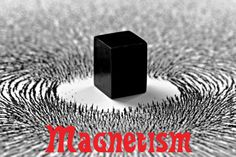 Magnetism = a physical phenomenon produced by the motion of electric charge, resulting in attractive and repulsive forces between objects.