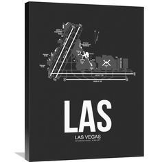 Naxart Studio 'las Las Vegas Airport ' Stretched Canvas Wall Art