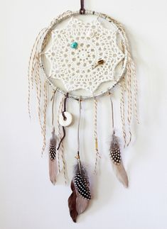 DIY Doily Dreamcatcher.  Moody.