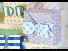 DIY Gift Boxes tutorial using 123 Punch Board Party Collection - YouTube