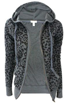 Just a basic animal print, thermal hoodie<3