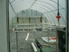 Construction Inside first greenhouse