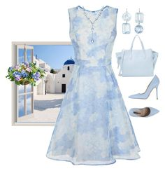 """My Blue Heaven"" by easy-dressing ❤ liked on Polyvore featuring GAS Jeans, Chi Chi, Improvements, Renee Lewis, Effy Jewelry, Cynthia Rowley and Norma J.Baker"