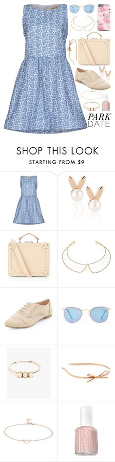 """""""Alice at the Park Outfit"""" by ohsosartorial on Polyvore featuring Alice + Olivia, Aamaya by priyanka, Accessorize, Marc by Marc Jacobs, Quay, Jennie Kwon, Kate Spade, TomShot, Essie and Spring"""