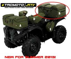 molle style atv front rack bag bags organizers atv quad holiday gift guide pinterest. Black Bedroom Furniture Sets. Home Design Ideas