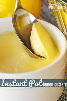 Instant Pot Lemon Custard Cups are a tangy, light and refreshing treat, perfect for spring and summer! Can make keto: use coconut milk, erythritol for milk, sugar. Custard Recipes, Lemon Recipes, Sweet Recipes, Instant Pot Pressure Cooker, Pressure Cooker Recipes, Pressure Cooking, Cannoli, Lemon Desserts, Dessert Recipes