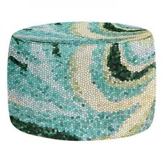 Ottomans- Prop up your feet or rest your tush with a cushy, decorative, artistic ottoman from DiaNoche Designs. Match your unique area rug, blanket or couch pillows to your new designer living room accessory. Great for children's bedrooms and college dorm rooms too. Choose a square or round style.  Firm bean bag style Ottoman / Stool Removable cover with zip closure Machine washable