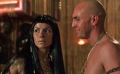 Patricia Velazquez as Anck Su Namun - with High Priest Imhotep