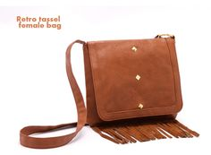 fashion 2013 women's Retro Tassel Brown Package cover Shoulder Bags Fringed bags messenger bags Cost-effective bolsas pacote $14.90