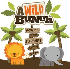 A Wild Bunch SVG Scrapbook Collection zoo svg cut files zoo svg files for… Scrapbook Titles, Scrapbooking Layouts, Digital Scrapbooking, Baby Zoo Animals, Wild Animals, Safari Party, Jungle Party, Jungle Theme, Cute Clipart