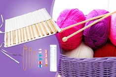 44pc Bamboo Knitting Kit