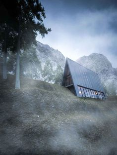 Read Beautifully Minimal Triangular House That Sits At The Edge Of A Cliff