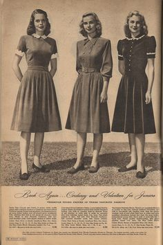The Closet Historian: Cataloging Catalogs: Ward's Fall/Winter More Dresses! The Closet Historian: Cataloging Catalogs: Ward's Fall/Winter More Dresses! Teen Fashion, Retro Fashion, Vintage Fashion, Womens Fashion, Fashion Tips, 1940s Fashion Women, Fashion 2016, Cheap Fashion, Winter Fashion