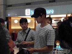 Kim Hyun Joong, en aeropuerto Incheon, llegando de Indonesia