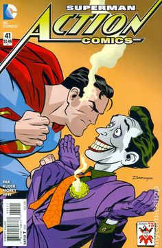 Action Comics (2011 2nd Series) 41B Superman Joker dc comics cover
