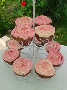 cupcakes roses fête des mères / mother day