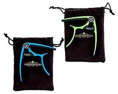 Guitar Capo Acoustic Electric Green Blue Lightweight Aluminum Metal 2 pack NEW