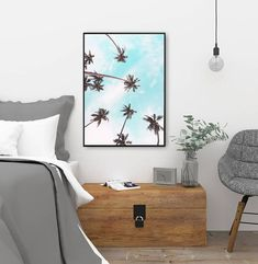 palm trees print tropical wall art nature photography palm