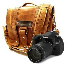 Distressed camera bag ... oh I love it, and my small sony nex-5 would probably fit rather good inside it... http://minivideocam.com/product-category/camera-cases/