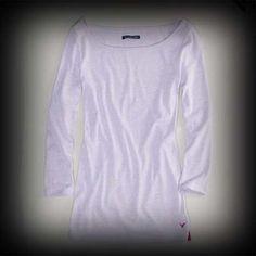 アメリカンイーグル レディース シャツ American Eagle AE SOLID 34 SLEEVE ニットTシャツ-アバクロ 通販 ショップ-【I.T.SHOP】 #ITShop