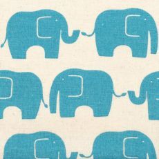 Elephant Parade Dusty Blue These larger scale adorable Elephants are printed on a medium weight lightly brushed cottonlinen blend T. Please Click the image for more information.