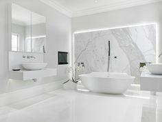 Case Study: New Lodge, Fulham: modern Bathroom by BathroomsByDesign Retail Ltd Bahtroom ideas 2019 luxurybathroomretailers 601652831452272064 Chic Bathrooms, Dream Bathrooms, Luxury Bathrooms, Marble Bathrooms, Master Bathrooms, Bad Inspiration, Bathroom Inspiration, White Bathroom, Small Bathroom