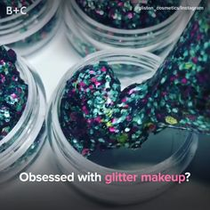 This glitter makeup is so cool! Nail Tips, Sprinkles