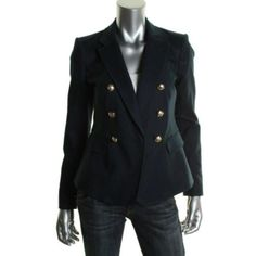 JUICY-COUTURE-NEW-Brooke-Navy-Notch-Collar-Double-Breasted-Blazer-Jacket-0-BHFO