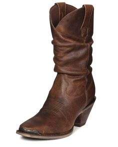 They had me at sultry, but distressed sealed the deal. Gorgeous! http://www.countryoutfitter.com/products/19530-womens-10-crush-sultry-slouch-boots-distressed-sunset-brown #cowgirlboots