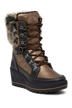 Image of GUESS Leland Faux Fur Trimmed Boot