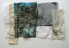 Maybe the boro scarf could be lined on the reverse with something like this but linked to th evokes theme? Textile Fiber Art, Textile Artists, Cas Holmes, Stitching On Paper, Fibre And Fabric, Creative Textiles, Free Motion Embroidery, Textiles Techniques, Fabric Journals