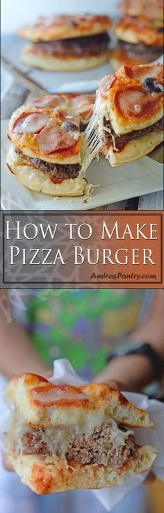 How To Make A Pizza Burger