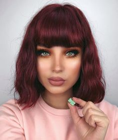 163 hot red hair color shades to dye for red hair dye tips & ideas page 17 Red Violet Hair, Red Ombre Hair, Dyed Red Hair, Cherry Red Hair, Dyed Tips, Hair Dye Tips, Hair Color Shades, Red Hair Color, Magenta Hair Colors