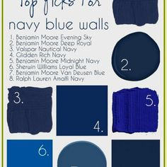 NAVY Blue is pure yumminess as a wall or cabinet color!!!!