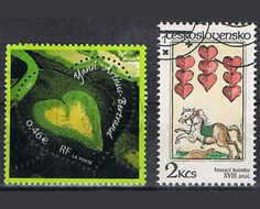 31 Vintage Love Postage Stamps - Hearts - Roses -Kisses. €2.50, via Etsy.