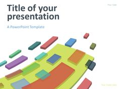 Golden wave powerpoint template presentationgo pinterest free modern abstract powerpoint template colorful flying 3d blocks on a white background toneelgroepblik Choice Image
