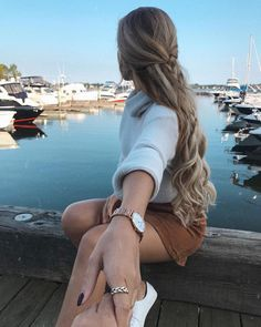The coolest hairstyles for curly blond hair Very Long Hair, Braids For Long Hair, Hair Styles For Long Hair For School, Pretty Hairstyles, Braided Hairstyles, Haircuts For Fine Hair, Pinterest Hair, Hair Day, Hair Looks
