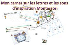 Mon cahier de lettres et de sons d'inspiration Montessori!