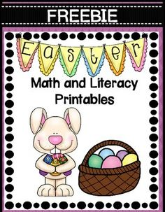 FREEBIE Easter Math and Literacy Printables Centers Statio