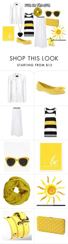 """""""Fun In The Sun"""" by fatemehm ❤ liked on Polyvore featuring MANGO, Office, Enza Costa, Pieces, Fantasy Jewelry Box, Merona, Dorothy Perkins and hijab"""