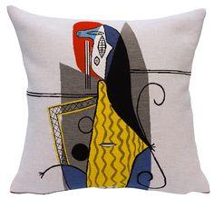 Coussin Femme dans un fauteuil, collection Pansu Picasso (Musée Picasso)