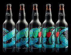 Serpent Cider is a craft apple cider product from British Columbia's Okanagan Valley. The packaging features a wrap-around silk-screened label design that references Ogopogo, a cryptid lake monster reported to live in Okanagan Lake.