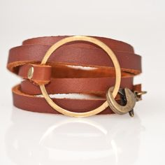 honeygold caramel and gold leather WRAP by stoneandsmith on Etsy, $36.00