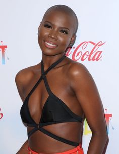 Bozeman attends EpicFest 2016 hosted by L. Reid and Epic Records at Sony Studios on June 2016 in Los Angeles, California. Beautiful Dark Skinned Women, My Black Is Beautiful, Gorgeous Women, Simply Beautiful, Bald Head Women, Skin Girl, Afrika Corps, Natural Hair Styles, Short Hair Styles