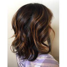 Balayage on dark hair to create a warm caramel. Balayage Hair Dark Short, Balayage Hair Copper, Balayage Hair Caramel, Caramel Hair, Hair Color Balayage, Dark Hair, Caramel Highlights, Bayalage, Hair Lights