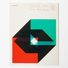 Holiday Greetings card, Rudolph de Harak & Associates 1970s