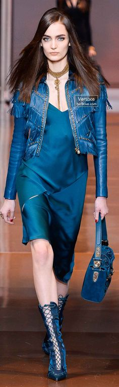 Versace Fall 2014 - Zuzanna Bijoch